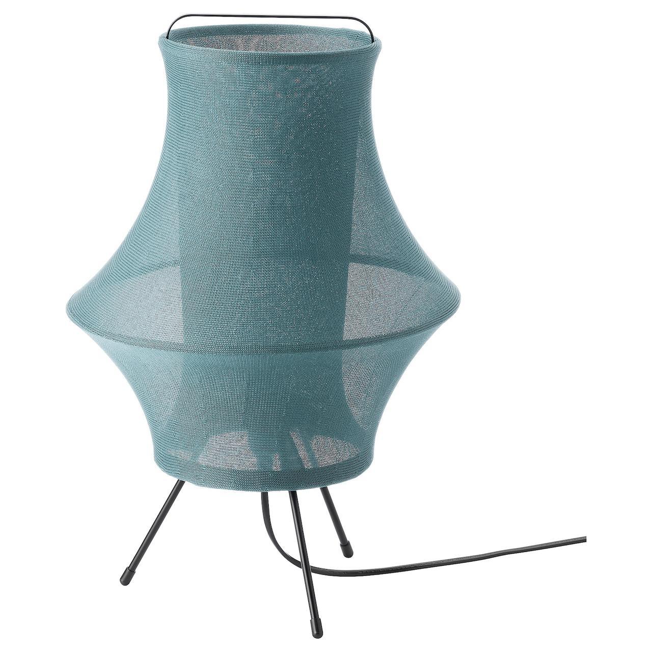 IKEA FYXNÄS Лампа настольная, бирюзовый 44 см