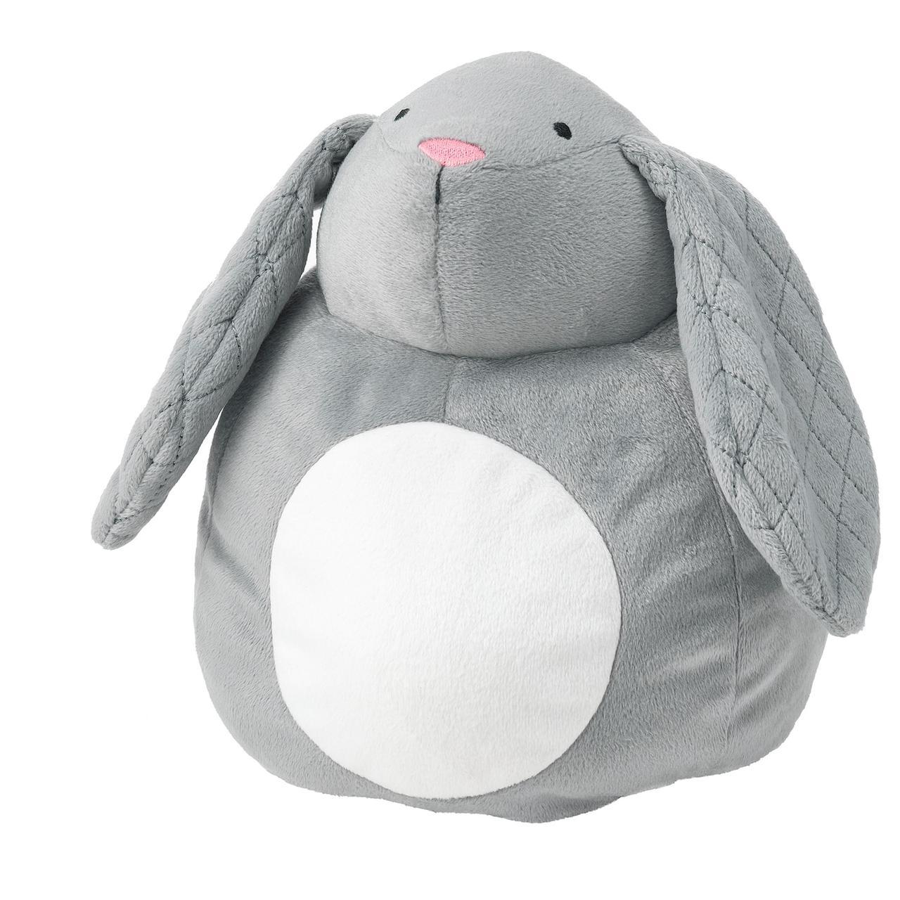 IKEA PEKHULT Плюшевые игрушки, ночник СВЕТОДИОДНЫЙ,  кролик на батарейках 19 см