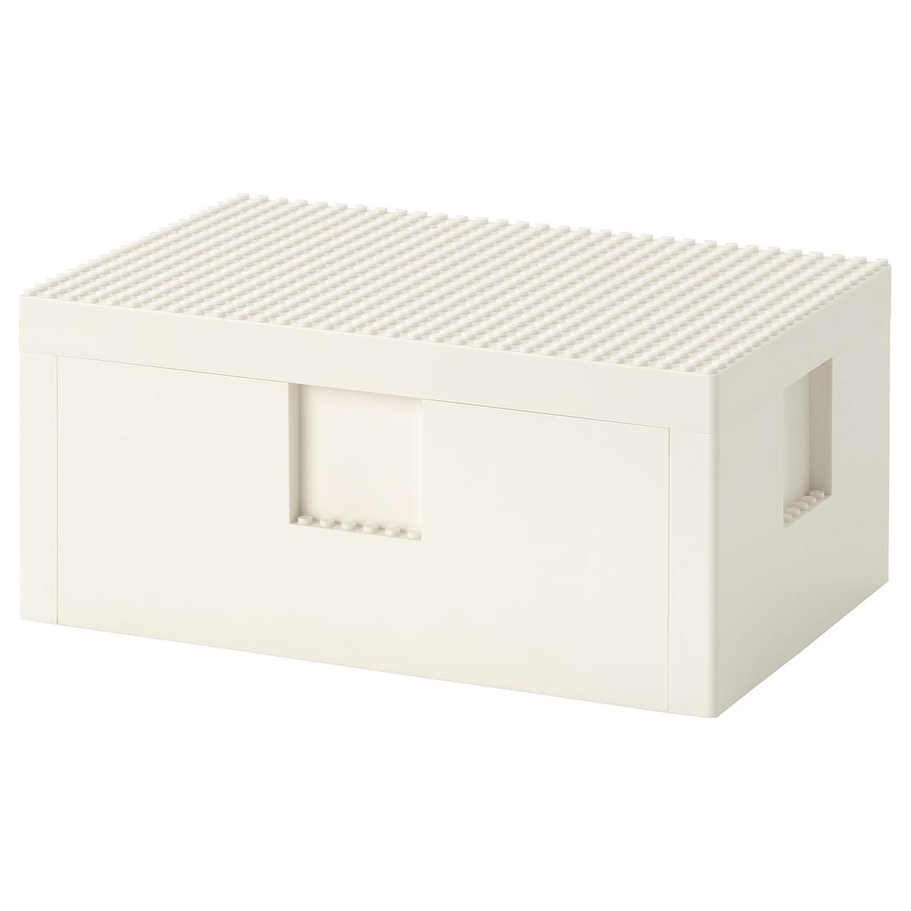 IKEA BYGGLEK Коробка LEGO® с крышкой 26x18x12 см