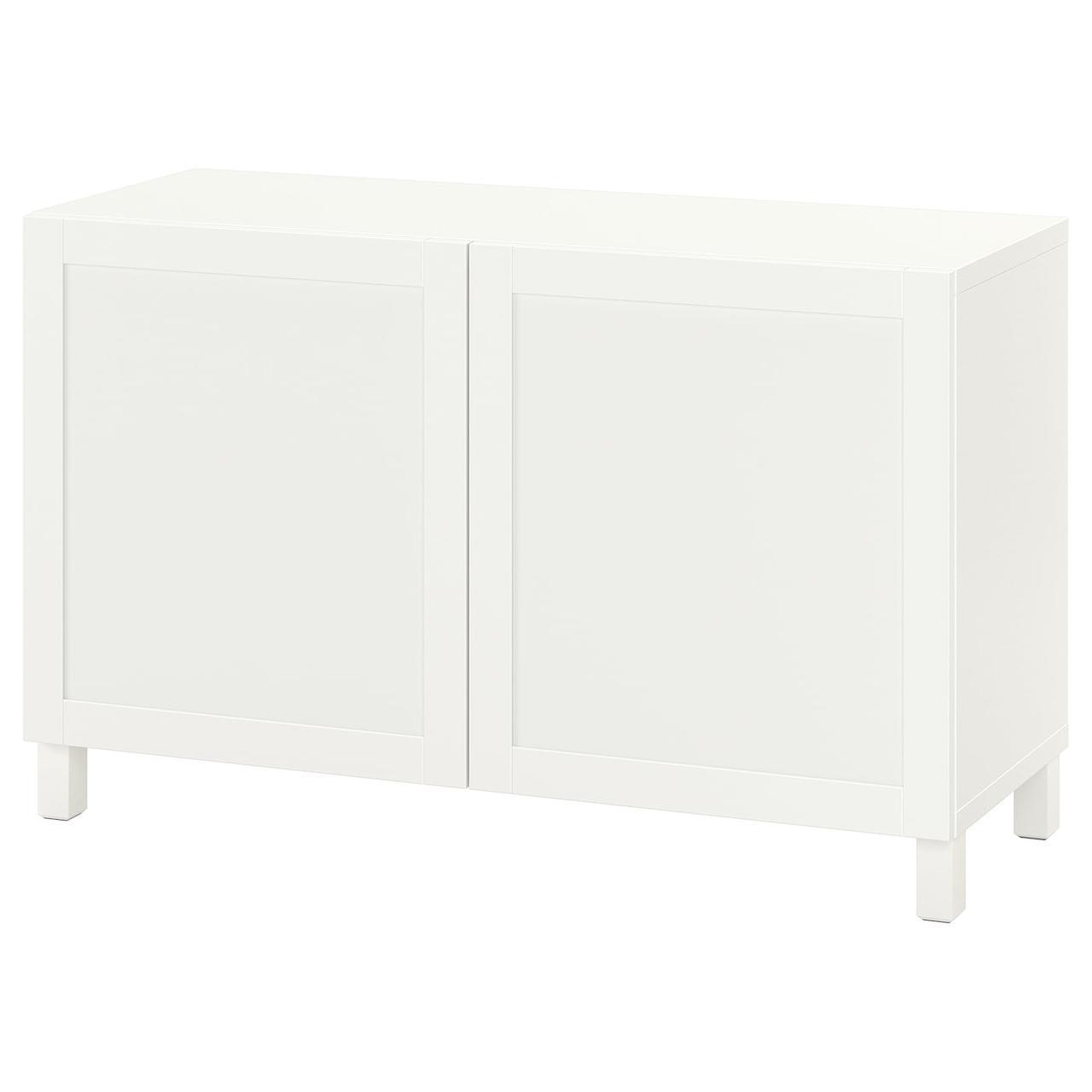 IKEA BESTÅ Комбинация с дверцами белый/Hanviken/Stubbarp белый 120x42x74 см