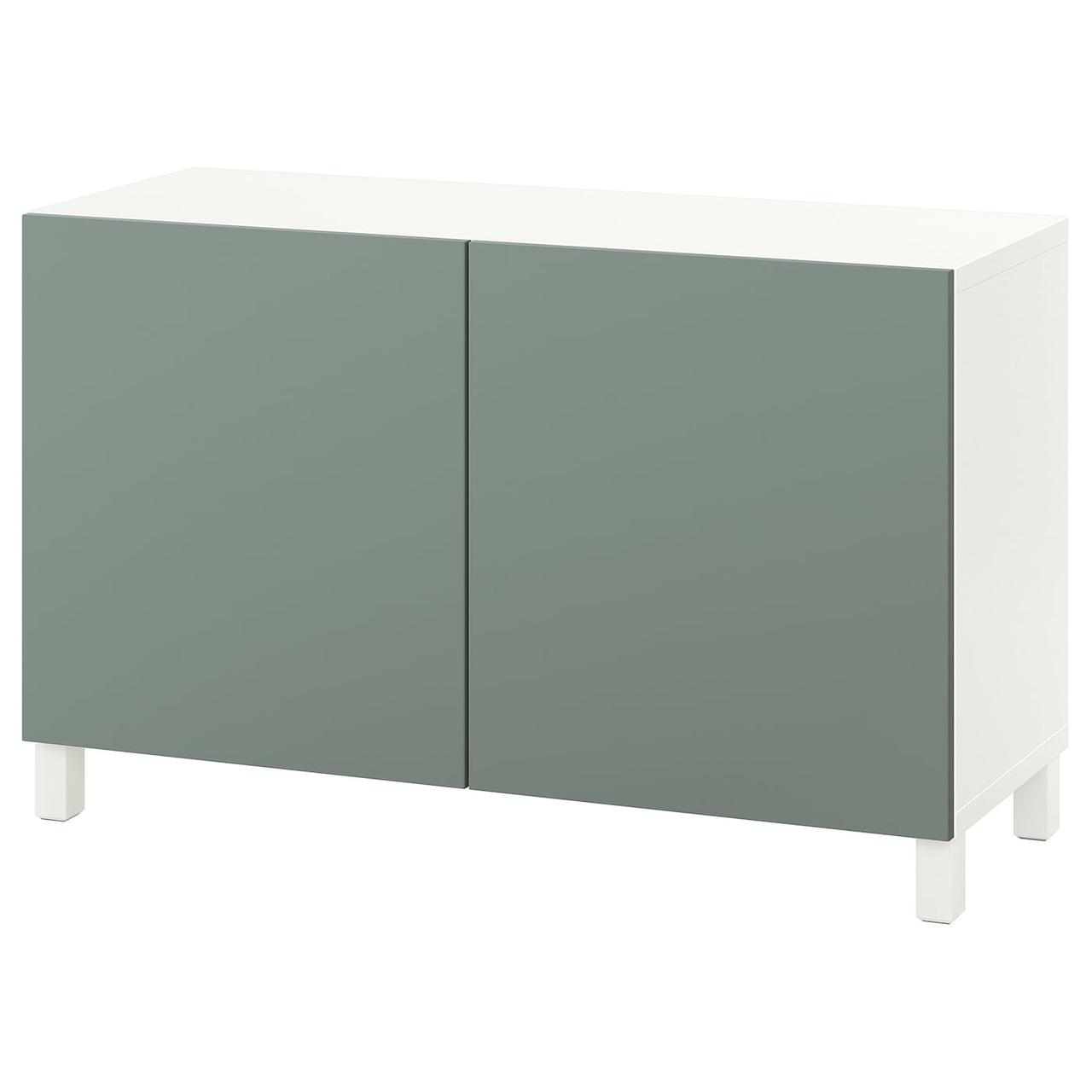 IKEA BESTÅ Комбинация с дверцами белый/Notviken/Stubbarp полыни 120x42x74 см