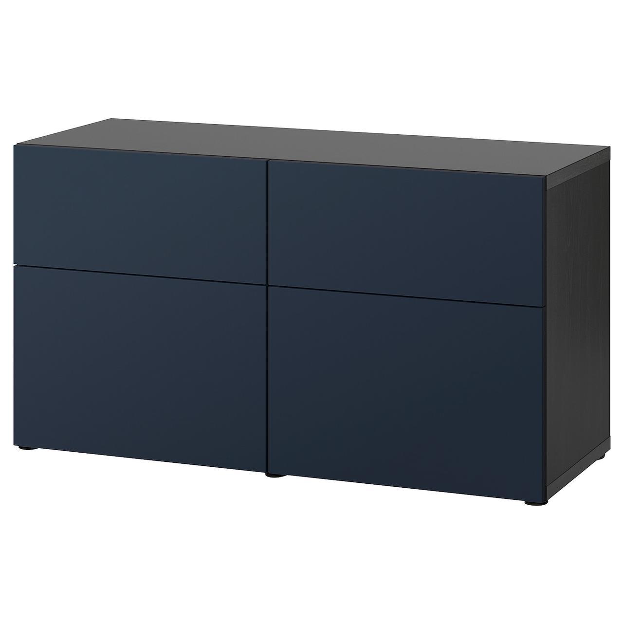 IKEA BESTÅ Комбинация regałowa с двери/ящики с организац/Notviken синий 120x42x65 см