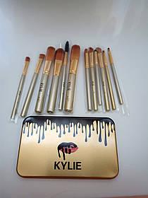 Кисточки для макияжа Make up brush set Gold