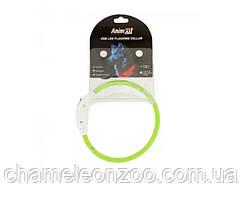 Нашийник AnimAll LED 35 см салатовий