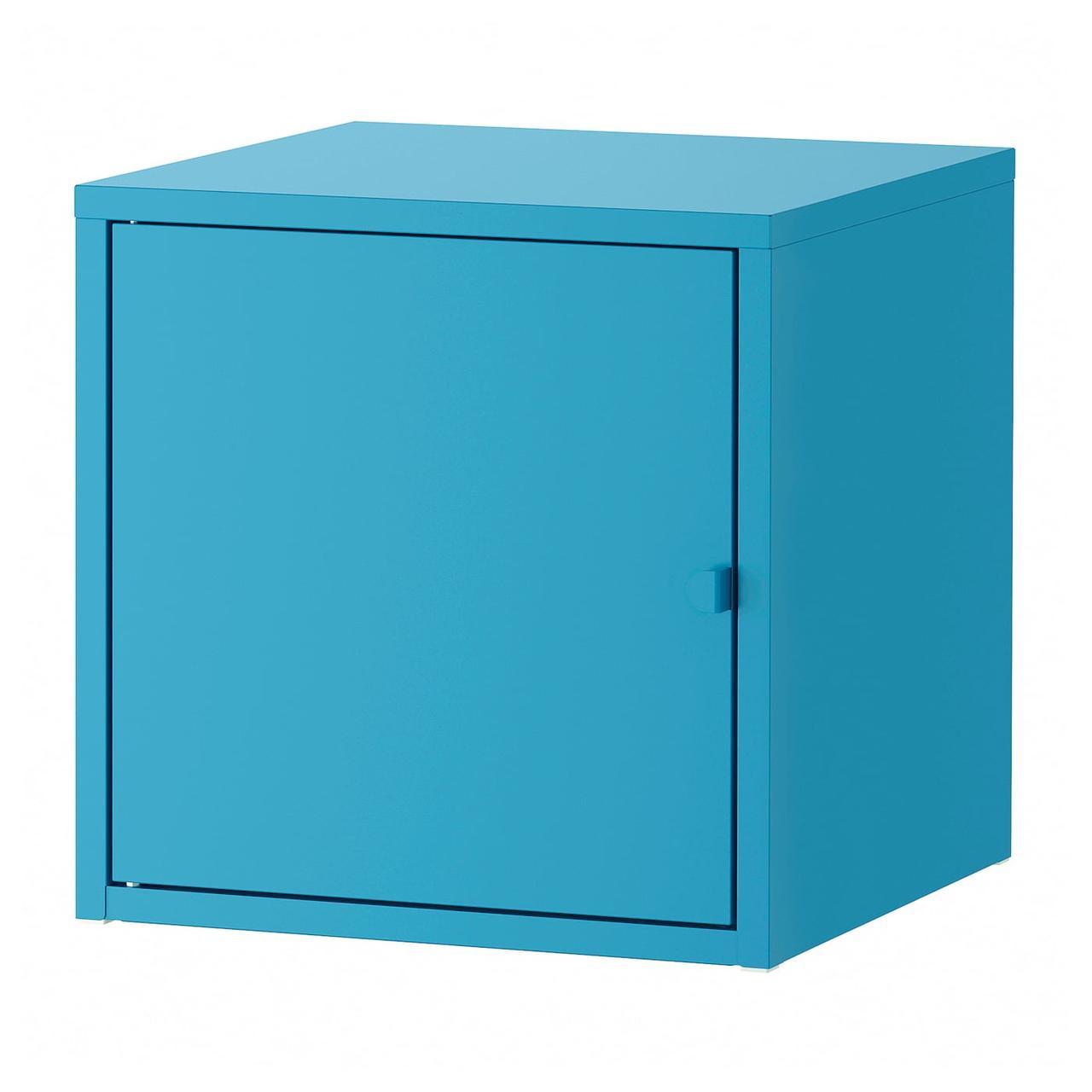 IKEA LIXHULT Шкаф, металл/синий, 35x35 см