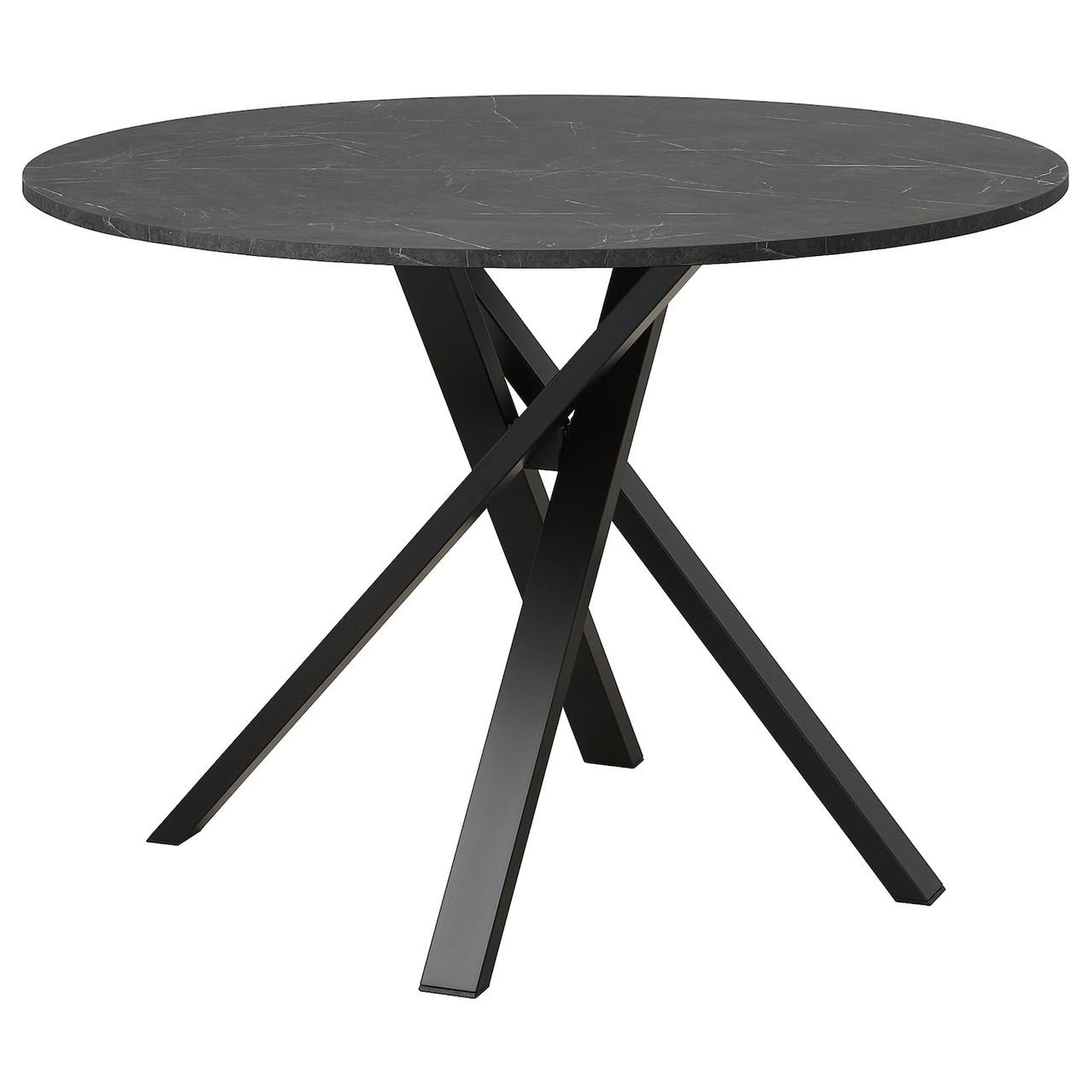 IKEA MARIEDAMM Стол имитация мрамора 105 см