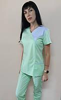 Женский медицинский костюм Грация коттон короткий рукав, фото 1