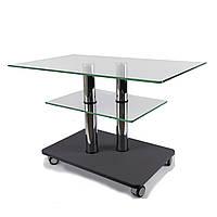 Стеклянный журнальный стол прямоугольный Commus Bravo Max P cc-gray-2chr60, фото 1