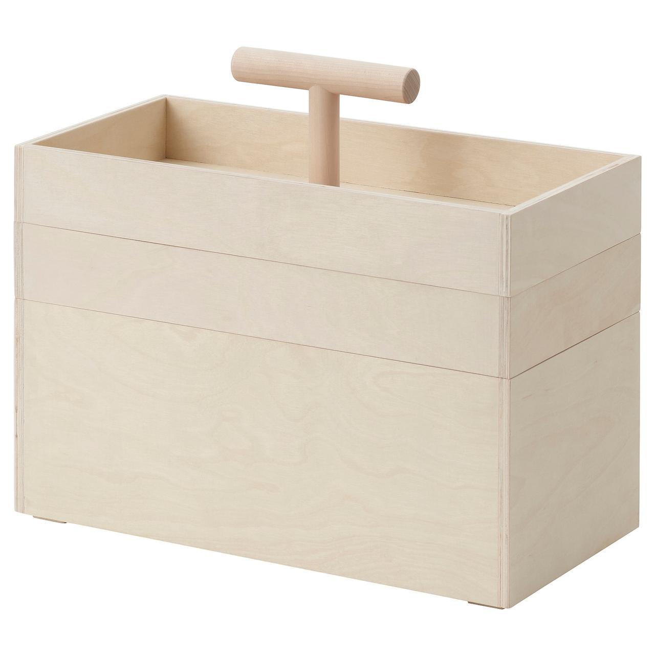 IKEA RÅVAROR Коробка, фанера березовый 36x18x31 см