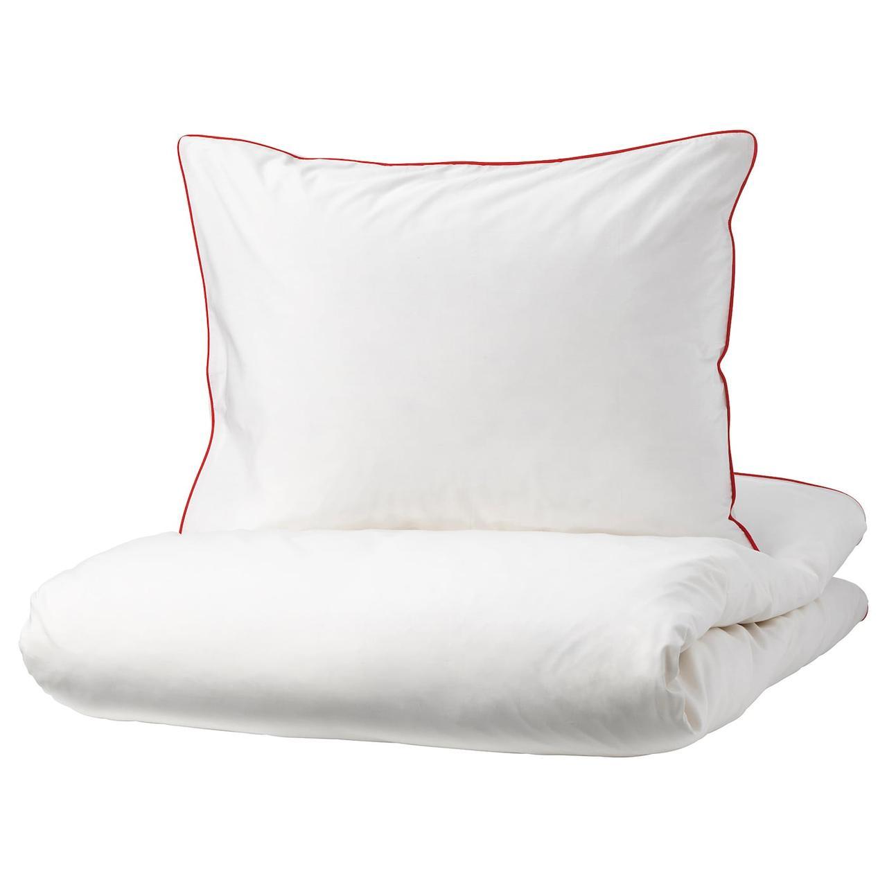 IKEA KUNGSBLOMMA Комплект постільної білизни/червоний, 200x200/50x60 см