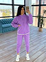 Спортивний жіночий костюм на флісі з худі і звуженими штанами (р. S-L) 66мѕр1170Е, фото 1