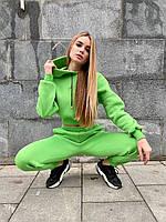 Женский спортивный костюм с укороченным худи и штанами на манжетах (р.S, M) 71msp1175, фото 1