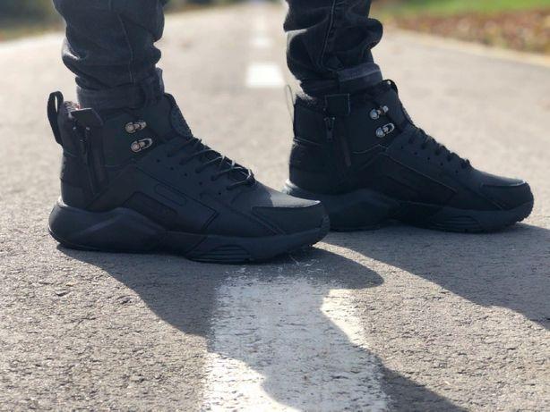 Кросівки чоловічі Nike Air Huarache acronym в стилі найк хуарачи НА ХУТРІ (Репліка ААА+)