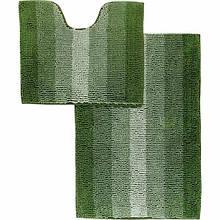 Набор ковриков 60*90 и 60*50 в ванную Махрамат Dariana 5159 темно-зелёный