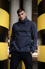 Костюм мужской серый черный демисезонный Intruder Softshell Walkman. Анорак мужской, штаны утепленные+Ключница, фото 3