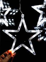 """Новорічні прикраси на вікно """"Біла зірка"""". Ціна за 1 зірку, фото 1"""