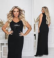 Женское длинное нарядное платье большого размера.Размеры:48,50,52,54 +Цвета, фото 1