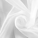 Тюль Турецкий из шифона   Тюль на тесьме   Готовая тюль из шифона   Тюль 400x270  Гардина из шифона Белый тюль, фото 4