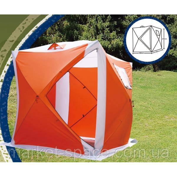 Палатка зимняя туристическая куб Lanyu 1941 (200x200x205см)