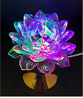 """Ночник/диско шар """"Цветок"""" AB-06 с подставкой LED crystal magic ball light"""