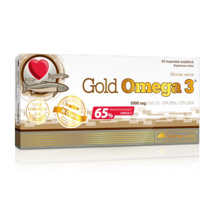 Рыбий жир, Омега 3 OLIMP Gold Omega 3 65% 60 caps