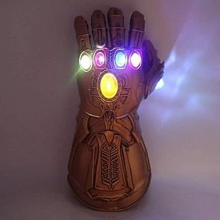 Светодиодная Перчатка Бесконечности Таноса Мстители Thanos Gauntlet Costume Avengers Infinity War 35 см TN 03