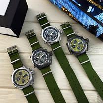 Годинник Чоловічий AMST 3003 Black-Black Green Військовий, Армійський, тактичний, Тканинний ремінець-нейлон, фото 3