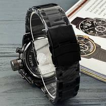 Годинник Чоловічий AMST 3003M All Black Metall, Військові, Армійський, тактичний, Чорний браслет, фото 3
