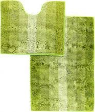 Набор ковриков 60*90 и 60*50 в ванную Махрамат Dariana 5160 светло-зелёный