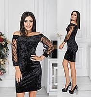 Жіноче яскраве велюрову сукню.Розміри:42,44,46 +Кольору, фото 1