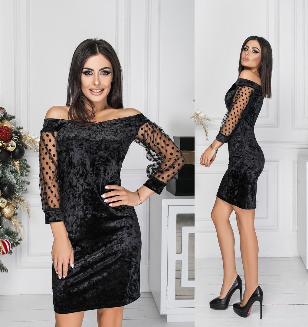 Жіноче яскраве велюрову сукню.Розміри:42,44,46 +Кольору