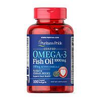 Рыбий жир, Омега 3 Puritan's Pride Omega-3 Fish Oil 1000 mg 100 softgels