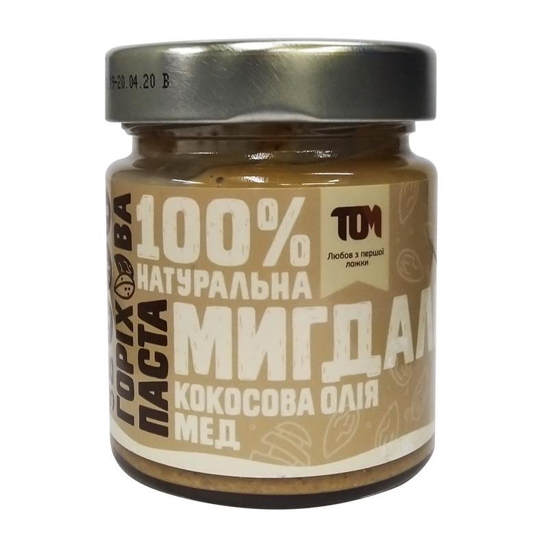 Миндальная паста TOM peanut butter Мигдальна паста 180 g