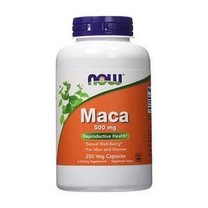 Мака Перуанская NOW Maca 500 mg 250 veg caps