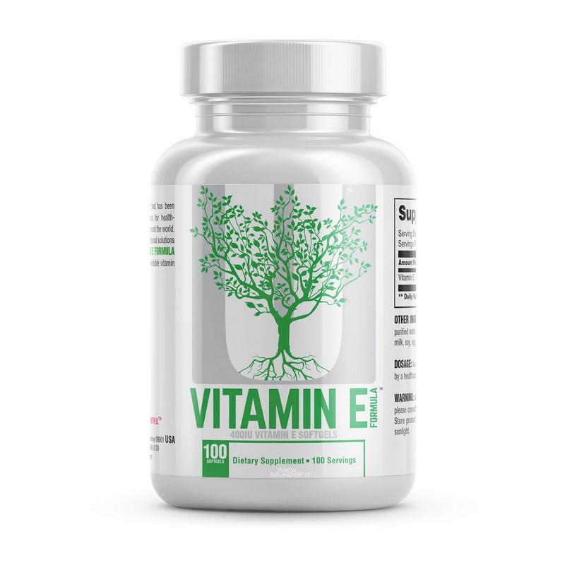 Витамин Е Universal Vitamin E Formula 400 IU 100 softgels