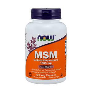 Метилсульфонилметан NOW MSM 1000 mg 120 caps