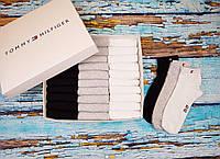 Набор из 30 пар носков Tommy Hilfiger в коробке, 3 цвета - черный, серый, белый, синий, TH Томми Хилфигер
