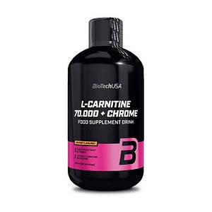 Л карнитин жидкий BioTech L-Carnitine 70 000 + Chrome 500 ml
