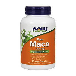 Мака Перуанская NOW Maca 750 mg raw 90 veg caps