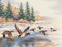 Набор для вышивки крестом Алиса 3-27 Утки летят