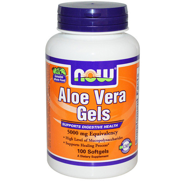 Алоэ Вера NOW Aloe Vera Gels 100 softgels