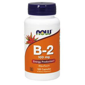 Рибофлавин, Витамин B-2 NOW B-2 100 mg 100 caps