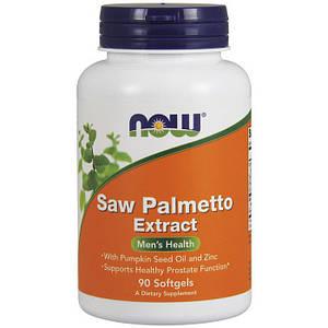 Со Пальметто NOW Saw Palmetto Extract 90 softgels