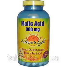 Nature's Life, Яблочная кислота, 800 мг, 250 растительных капсул