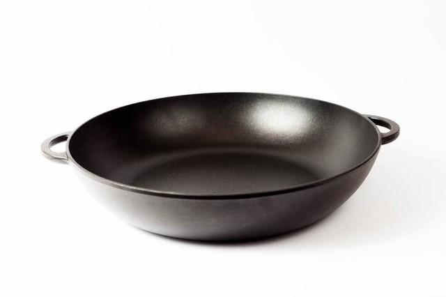 Сковорода чугунная (жаровня), эмалированная, d=340мм, h=70мм