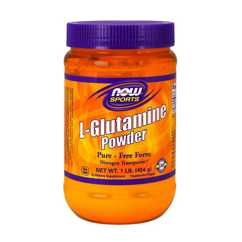 Глютамин NOW L-Glutamine Powder 454 g натуральный вкус