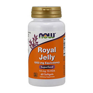 Маточное молочко NOW Royal Jelly 1000 mg Eguivalency 60 softgels