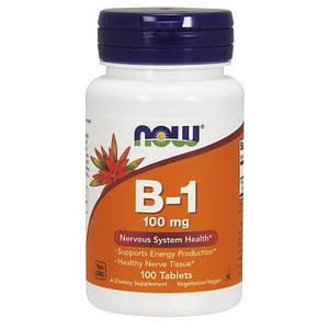 Тиамин, Витамин В1 NOW B-1 100 mg 100 tab