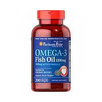 Рыбий жир, Омега 3 Puritan's Pride Omega-3 Fish Oil 1200 mg 200 softgels