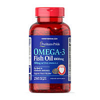 Рыбий жир, Омега 3 Puritan's Pride Omega-3 Fish Oil 1000 mg 250 softgels